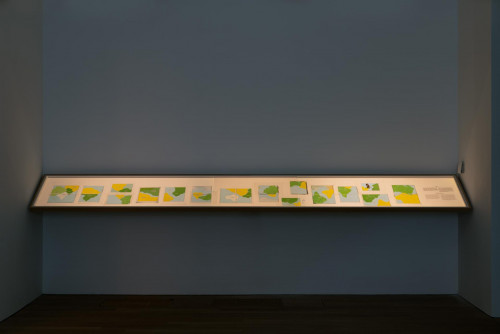 """Exhibition view: """"Wet feet __ dry feet: borders and games"""""""